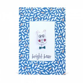 Bright Bear Handmade Brooch and Greeting Card