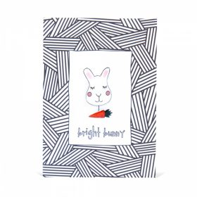 Bright Bunny Handmade Brooch and Greeting Card