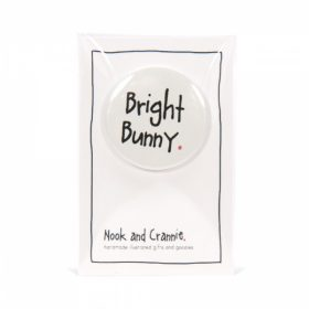 Bright Bunny Handmade Badge