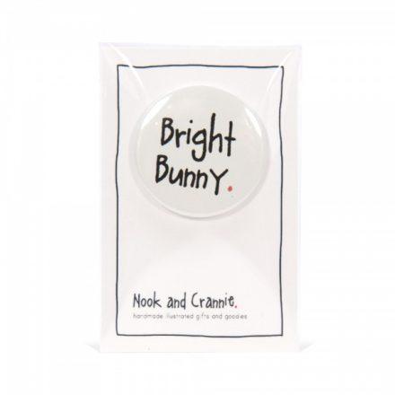 Bright Bunny Handmade Badge