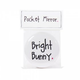 Bright Bunny Handmade Pocket Mirror