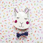 Bright Bunny Handmade Brooch
