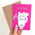 Handmade Finger Puppet Greeting Card