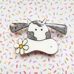 Cute Cow Handmade Brooch