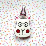 Party Bear Handmade Brooch