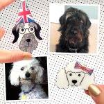 Custom Pet Portrait Brooch