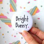 Bright Bunny Pocket Mirror