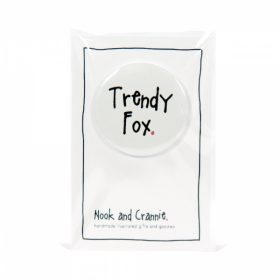 Trendy Fox Handmade Badge