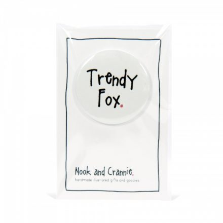 Trendy Fox Handmade Badge