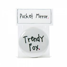 Trendy Fox Handmade Pocket Mirror
