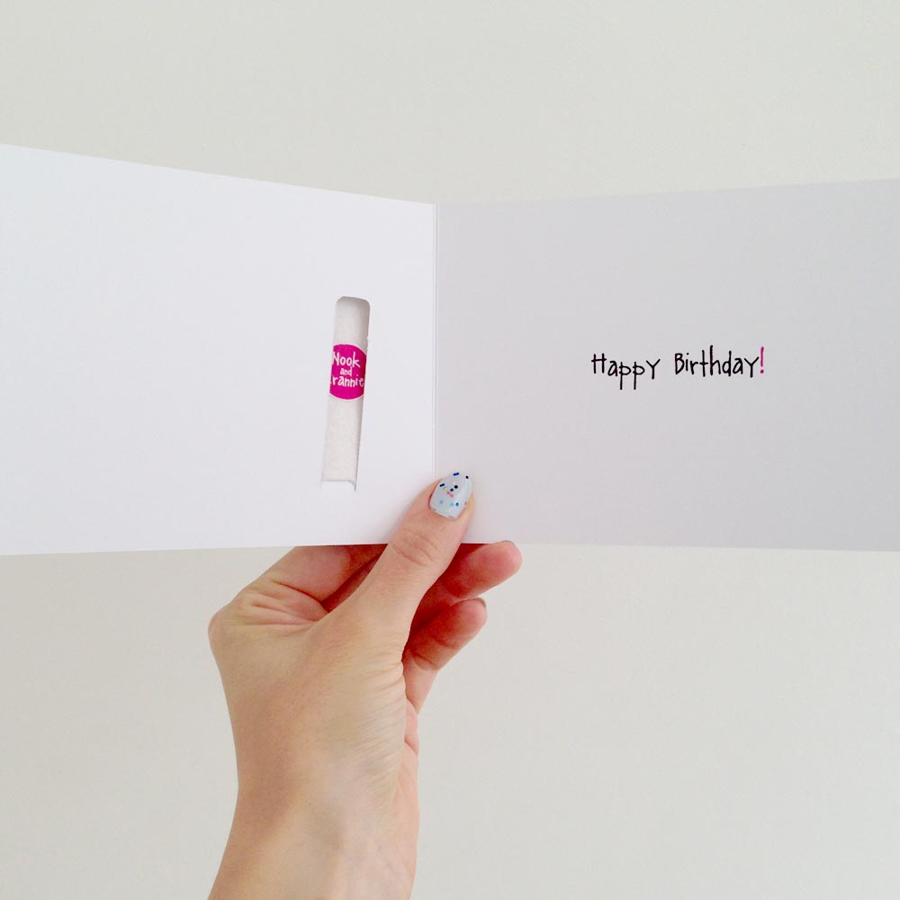 Yay! Happy Birthday Finger Puppet Card - Nook and Crannie