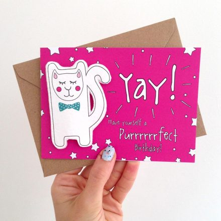 Handmade Finger Puppet Greeting Card